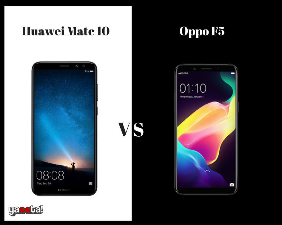مقارنة بين موبايل Oppo f5 وموبايل Huawei Mate 10 Lite